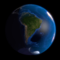 Earth Globe South America