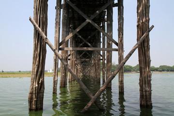Pont en teck U Bein à Mandalay - Myanmar Birmanie