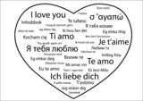 Phrase =I love you= in different languages poster