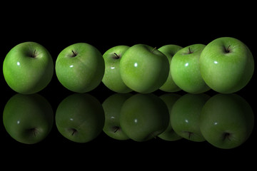Group of Green Apple