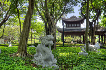 Chinese Zodiac Garden, Kowloon Walled City Park, HK.