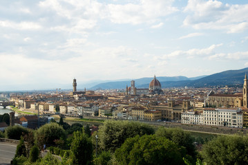 Florence, aerial view from Michelangelo square.