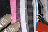 Background from clothes, shoes and accessories