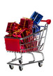 Shopping Cart with gift boxes