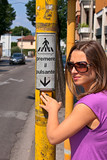 Girl at the traffic light