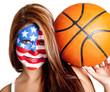American basketball fan