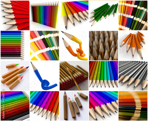 Graphisme, crayon collection