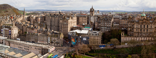 Panorama of Edinburgh Skylines building