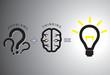 Problem solution concept - solving it using brain