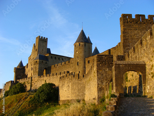 The castle of Carcassonne at sunset