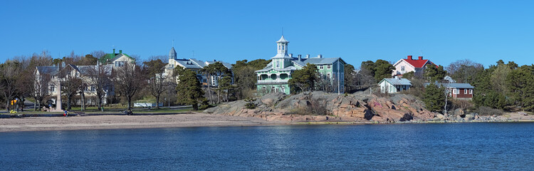 Panorama of the coast of Hanko, Finland