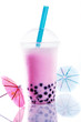 Healthy berry bubble tea