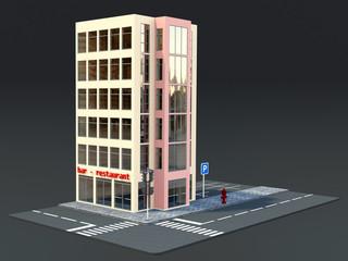 3D Modell Bürohaus