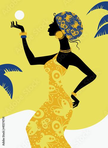 African sylwetka dziewczyny