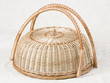 Wicker basket for cake