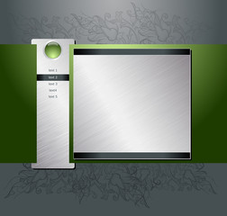 Web site design template eps8