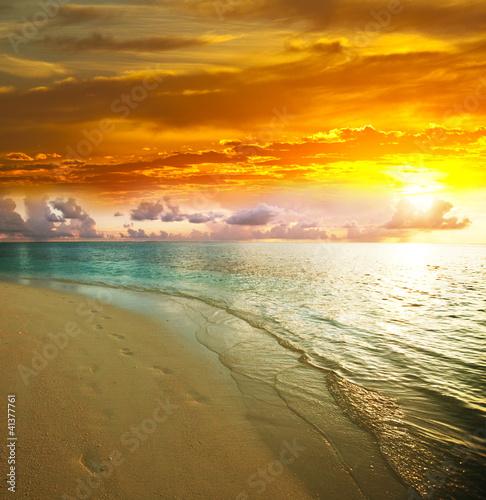 Fototapeta Sea sunset