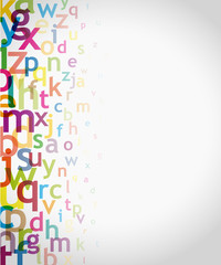 alphabet à gauche