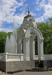 The Mirror Stream fountain in Kharkiv, Ukraine