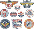 Gasoline station vintage vector badges - 41381354