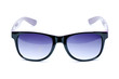 Old Black nerd Glasses with white background with clipping path