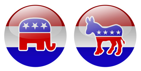 United States political party buttons