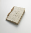 notebook closed in natural materials - quaderno chiuso