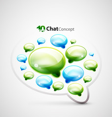Chat clouds background
