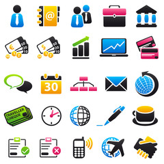 business Color & Black Icons