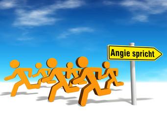 Angie spricht - wir hauen ab!