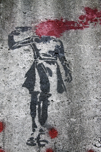 Fototapeten,suivre,tot,graffiti,waffe