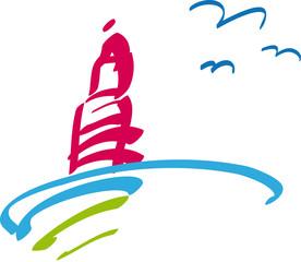Leuchtturm - Sonne - Meer - Urlaub - Ferien