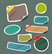 Colorful collection label and tag paper. vector