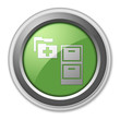 "Green 3D Style Button ""Medical Records"""