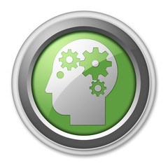 """Green 3D Style Button """"Mental Health"""""""