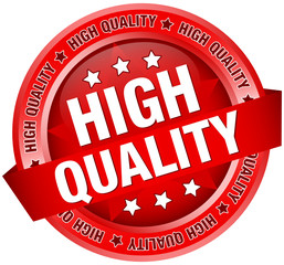 "Button Banner ""100 % Quality"" Red"