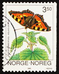 Postage stamp Norway 1993 Small Tortoiseshell, Aglais Urticae, B