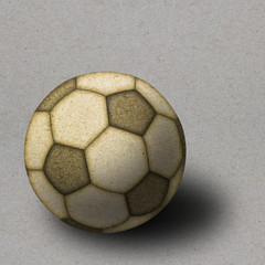football made by recycle paper