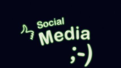 Social Media Diagram Animation on Black