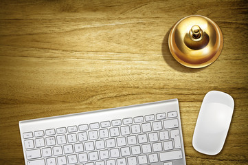 keyboard and service bell