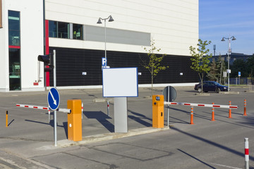 entrance to the city's paid car parking