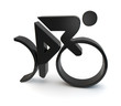 radrennen cycle racing symbol 3d
