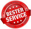 "Button Banner ""Bester Service"" rot"