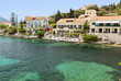 Traditional village of Fiscardo at Kefalonia island