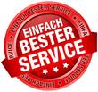 "Button Banner ""Einfach bester Service"" rot"