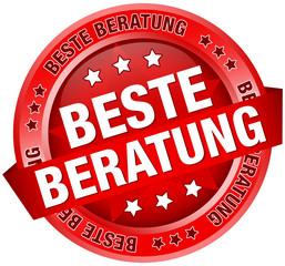 """Button Banner """"Beste Beratung"""" rot"""