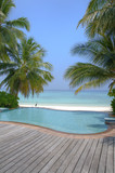 Fototapety Luxury tropical Infinity Pool on the Maldives