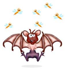 pipistrello e zanzare