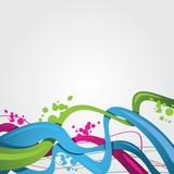 colour vector line background