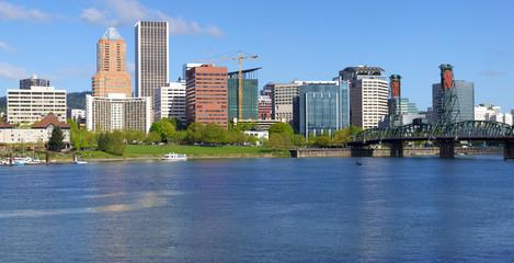 Portland Oregon skyline.